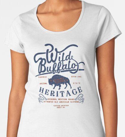 Wild Buffalo Arizona State Retro Label Premium Scoop T-Shirt