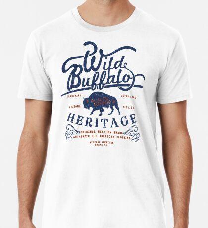 Wild Buffalo Arizona State Retro Label Premium T-Shirt
