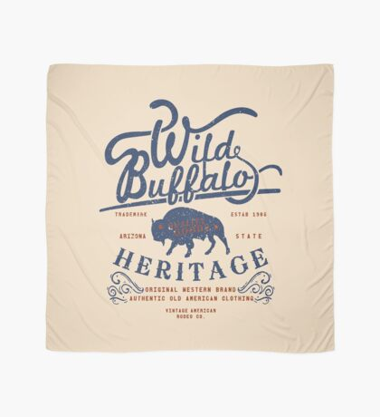 Wild Buffalo Arizona State Retro Label Scarf