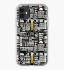 The Wise Words of Dwight Schrute (Dark Tee) iPhone Case