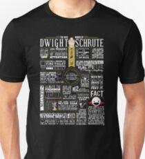 Camiseta ajustada Las sabias palabras de Dwight Schrute (camiseta oscura)