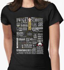 Camiseta entallada Las sabias palabras de Dwight Schrute (camiseta oscura)