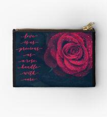 The Rose Zipper Pouch