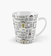 The Wise Words of Dwight Schrute (Light Tee) Tall Mug