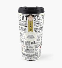 The Wise Words of Dwight Schrute (Light Tee) Travel Mug