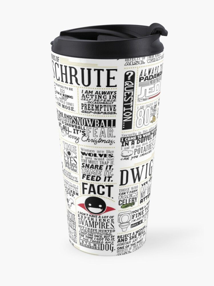 Alternate view of The Wise Words of Dwight Schrute (Light Tee) Travel Mug