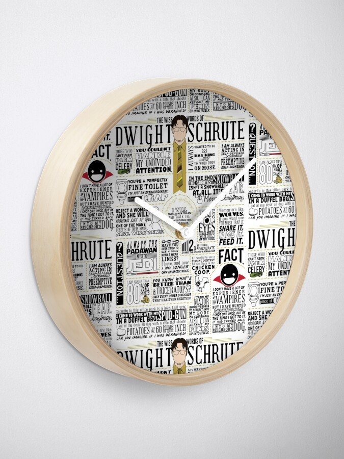 The Wise Words Of Dwight Schrute Light Tee Clock