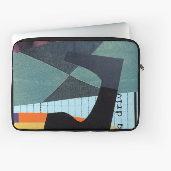 You May Know One abstract collage Laptop Sleeve