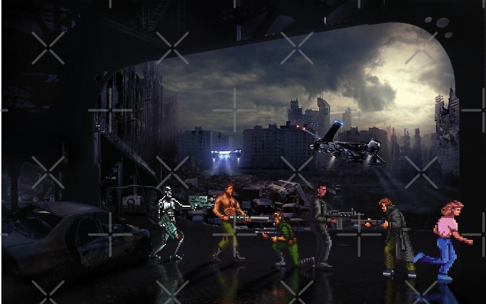 Terminator Sega Mega CD pixel art by smurfted
