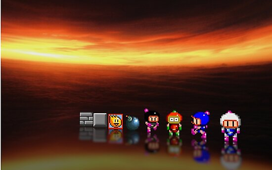 Super Bomberman pixel art by smurfted