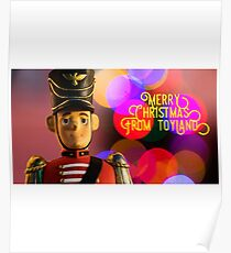 Merry Christmas from toyland, t-shirt Poster