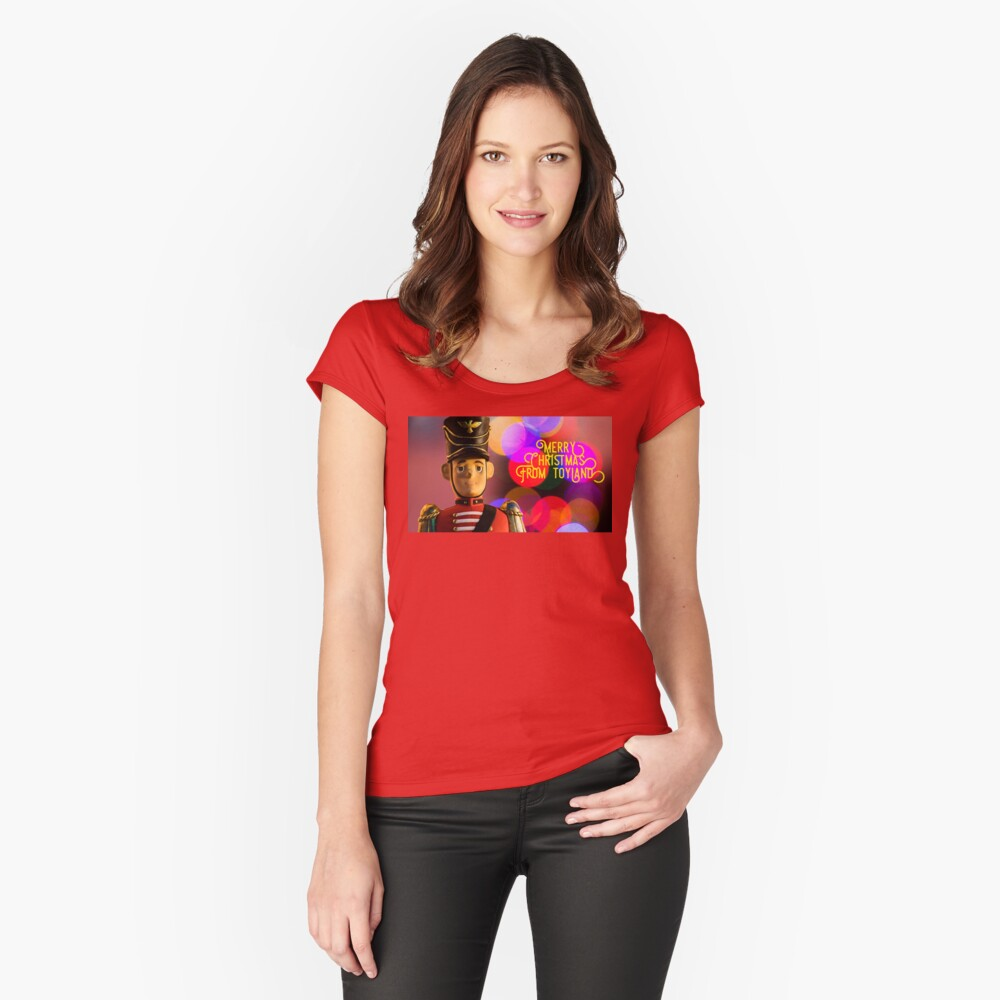 Merry Christmas from toyland, t-shirt Fitted Scoop T-Shirt