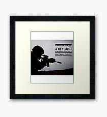 Warrior Decision Framed Print