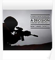 Warrior Decision Poster