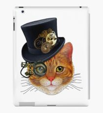Orange Cat with Steampunk Hat and Monocle iPad Case/Skin