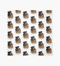 Orange Cat with Steampunk Hat and Monocle Scarf