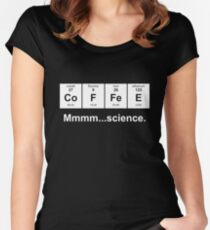 Periodic Table of Coffee - White Women's Fitted Scoop T-Shirt