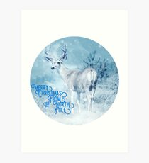 Merry Christmas From the North Pole, deer t-shirt Art Print
