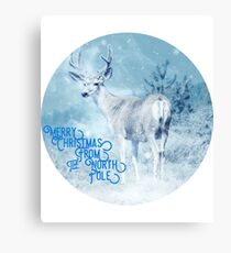 Merry Christmas From the North Pole, deer t-shirt Canvas Print