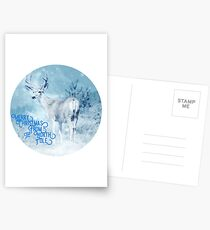 Merry Christmas From the North Pole, deer t-shirt Postcards