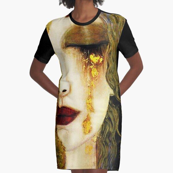 Golden Tears Freya's Tears of Gold Anne Marie Zimmerman (School of Klimt) Graphic T-Shirt Dress