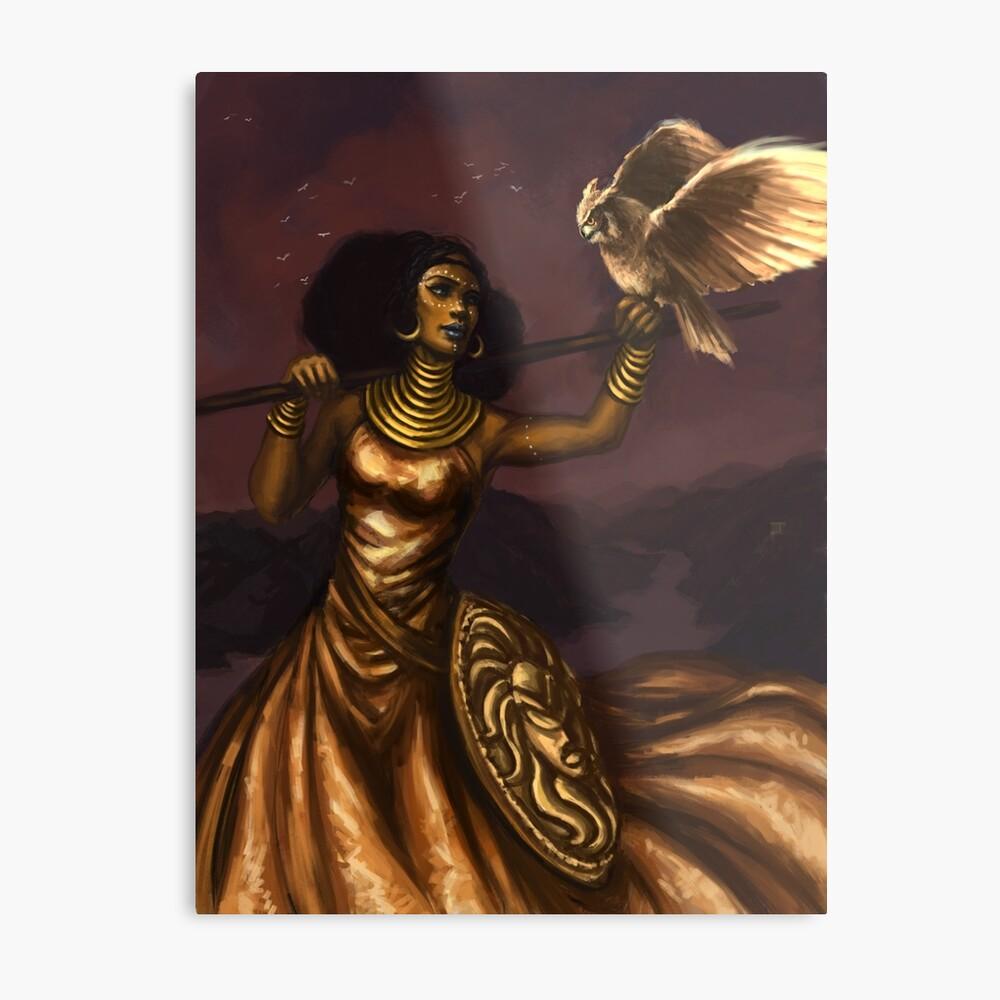 Athena, Göttin der Weisheit Metallbild