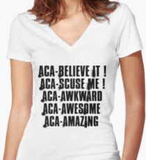 aca-all Women's Fitted V-Neck T-Shirt