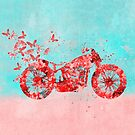 «Happy Trip Moto Flower Power Art» de artsandsoul