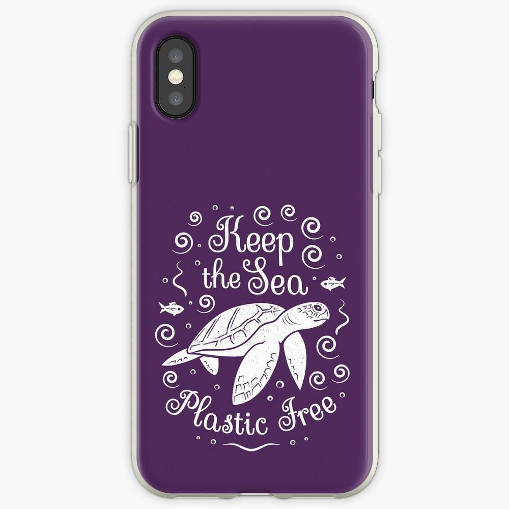 Rette unser Meer - halte das Meer plastisch - Schildkröte iPhone-Hülle & Cover