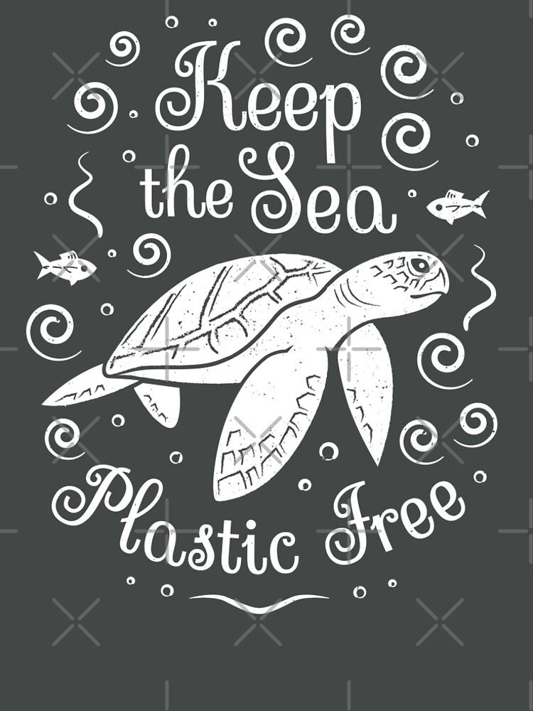 Rette unser Meer - halte das Meer plastisch - Schildkröte von Bangtees