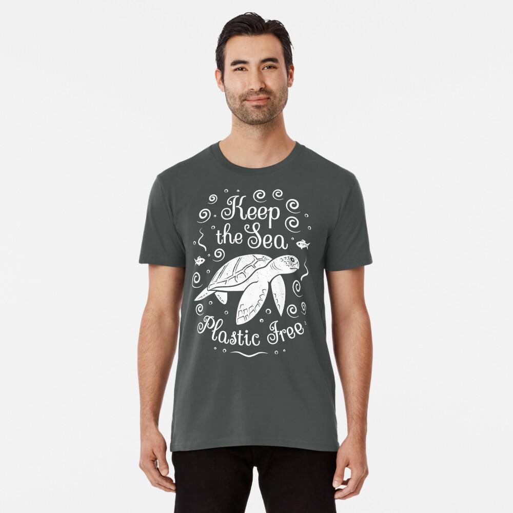 Rette unser Meer - halte das Meer plastisch - Schildkröte Premium T-Shirt