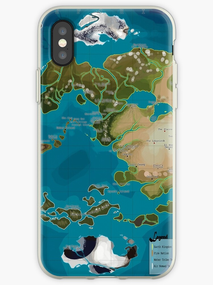 Avatar The Last Airbender Avatar World Map Iphone Cases Covers By