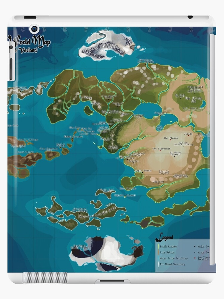 Avatar The Last Airbender Avatar World Map Ipad Cases Skins By