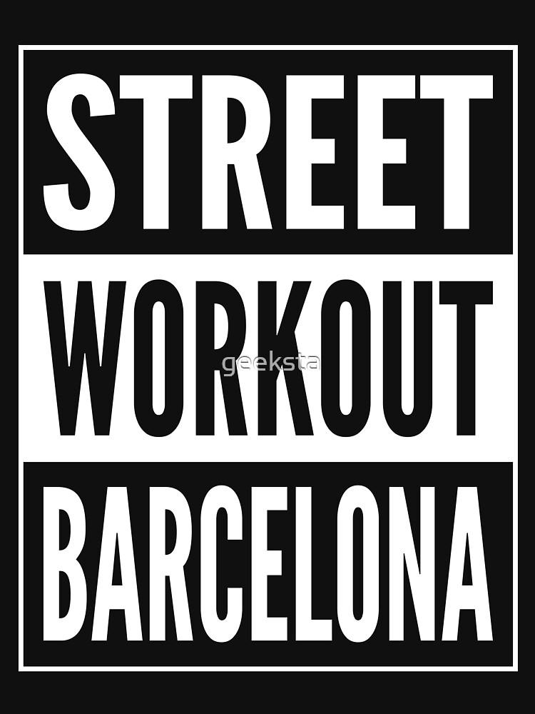 Street Workout Barcelona Urban Fitness Training Design by geeksta