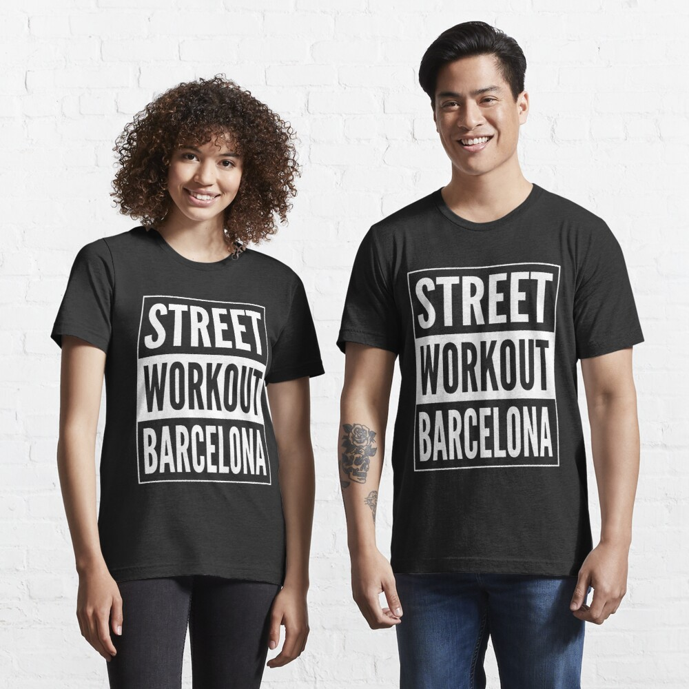 Street Workout Barcelona Urban Fitness Training Design Essential T-Shirt