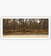 Quintessential Australian country road Sticker