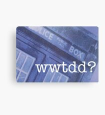 What Would The Doctor Do? Canvas Print