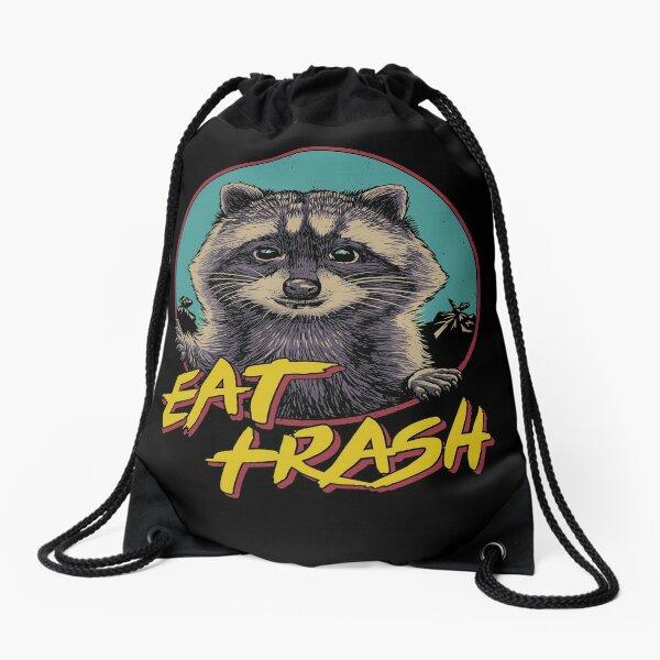 Eat Trash Drawstring Bag