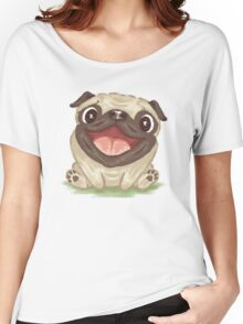 Happy Pug Women's Relaxed Fit T-Shirt