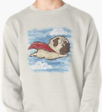 Flying Pug Pullover Sweatshirt