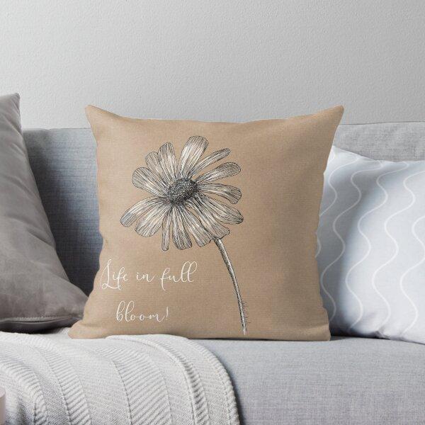 Flower- Life in full bloom. Throw Pillow