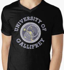 University Of Gallifrey (Black/Dark Colours) Men's V-Neck T-Shirt