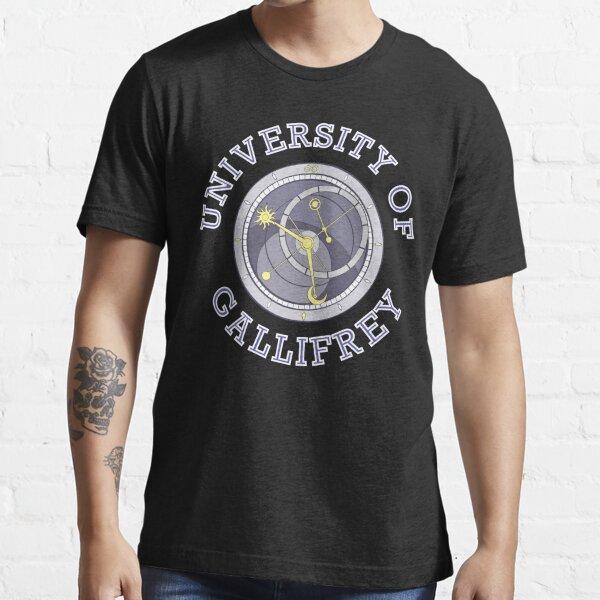University Of Gallifrey (Black/Dark Colours) Essential T-Shirt