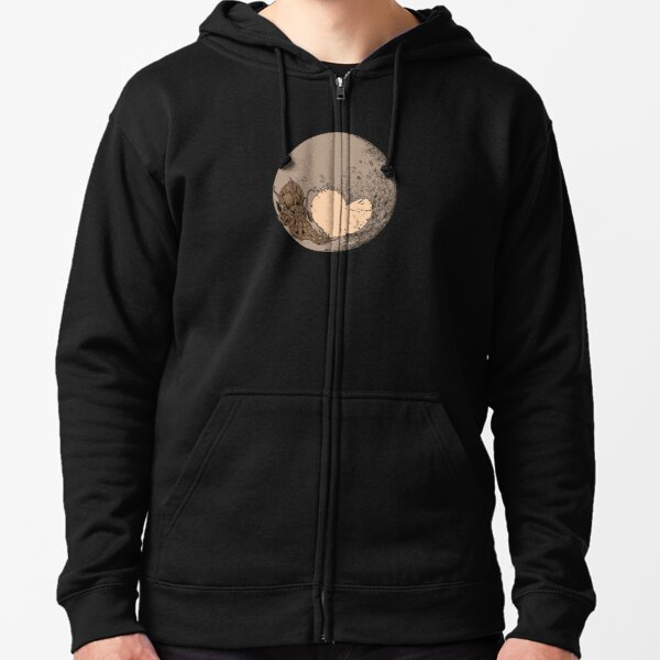 Pluto: With Love from Cthulu Zipped Hoodie