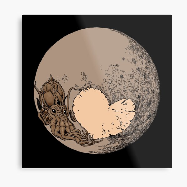 Pluto: With Love from Cthulu Metal Print