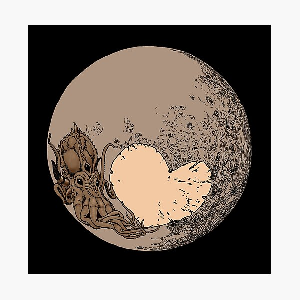 Pluto: With Love from Cthulu Photographic Print