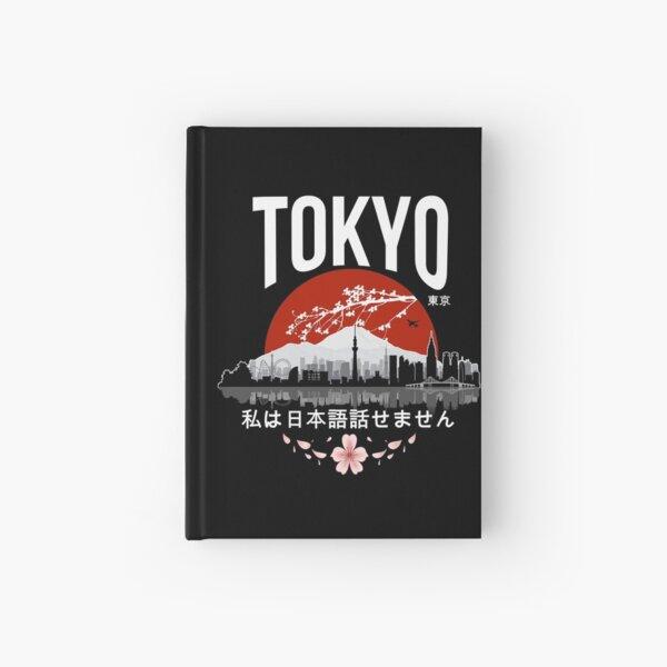 Tokyo - 'I don't speak Japanese': White Version Hardcover Journal