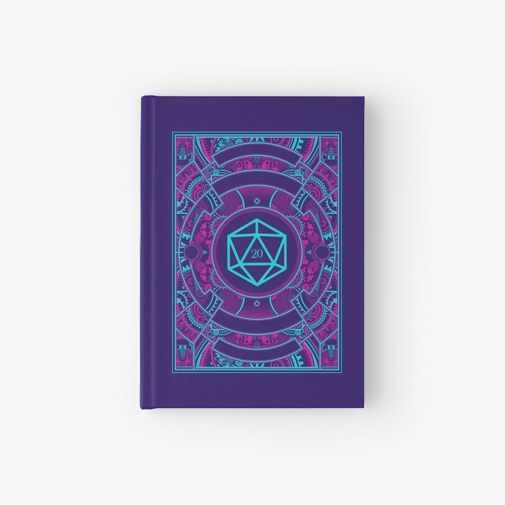 Futuristic Neon Noir Tabletop RPG D20 Dice Hardcover Journal