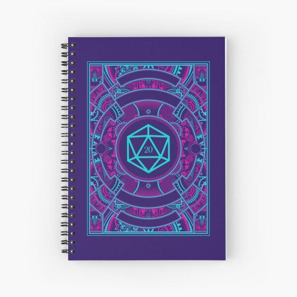 Futuristic Neon Noir Tabletop RPG D20 Dice Spiral Notebook