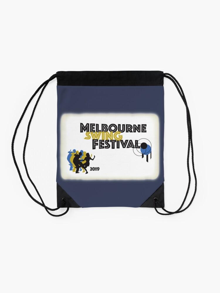 Alternate view of Melbourne Swing Festival 2019 Drawstring Bag